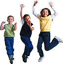 Photo of kids jumping